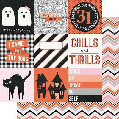 """Happy Haunting Double-Sided Cardstock 12/""""X12/"""" Fright Night 811958035644"""