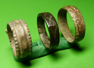 Ancient bronze rings.  Middle Ages. Оriginal.