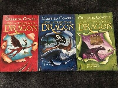 How to Train Your Dragon 3 Books Set By Cressida Cowell (BOOKS 1,2 AND 3)