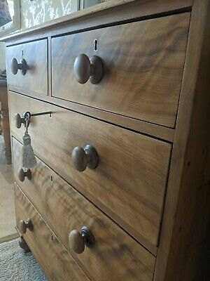 Large Antique Victorian Chest Of Drawers  With Key fully restored delivery
