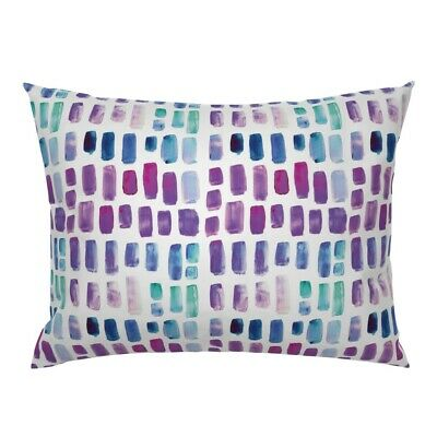 Cocktail Napkins Watercolor Brushstrokes Purple Orchid Teal Mosaic Set of 4