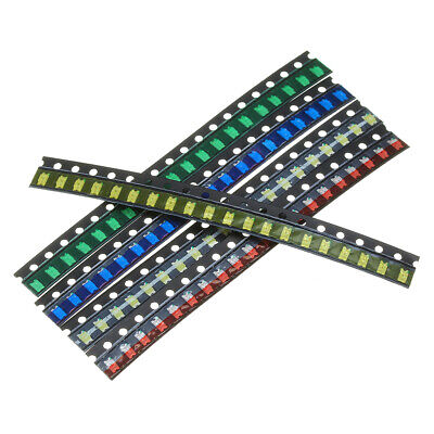 1000Pcs 5 Colors 200 Each 0603 LED Diode Sortiment SMD LED Diode Kit Green//Red