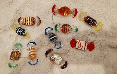 10 pcs Vintage Murano Glass Sweets Wedding Party Candy Christmas Decoration Gift