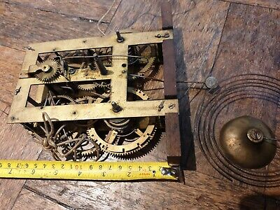 Antique American Clock Movement 1860's Large 17x10 cms probably early E.N.Welch