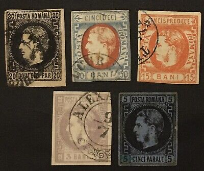 Romania  1860/70 Stock Different Stamps Used  R