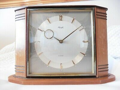 Vintage Kienzle 8 Day Wind-Up Mechanical Mantel Clock For Spares Or Repair