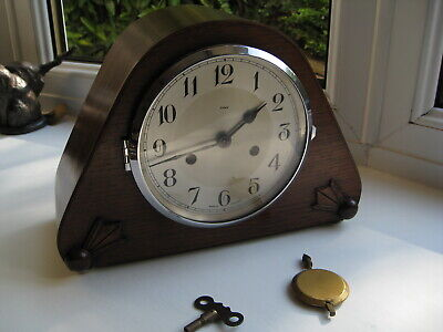 """Lovely Art Deco Striking mantle clock by """"Enfield"""" fully working, stunning ."""