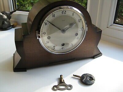 Lovely Art Deco Westminster Chime mantle clock, fully working very clean example