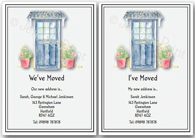 NEW HOME ADDRESS MOVING HOUSE CARDS PERSONALISED 5pk WD