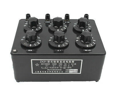 ZX21 Precision Variable Decade Resistor DC Resistance Box 0.1R to 99.9999kR