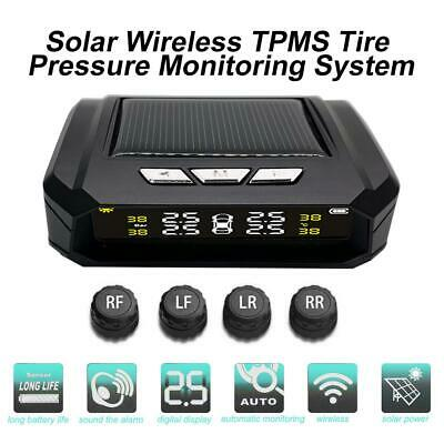 Wireless Solar TPMS LCD Car Tire Tyre Pressure Monitor System+4 External Sensors