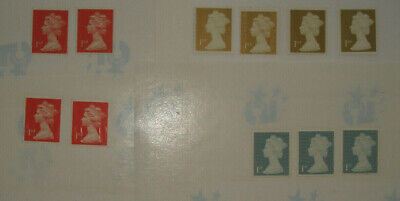 GB - UK Forgeries Unfranked Security Stamps Fakes Counterfeit 1st Class with Gum