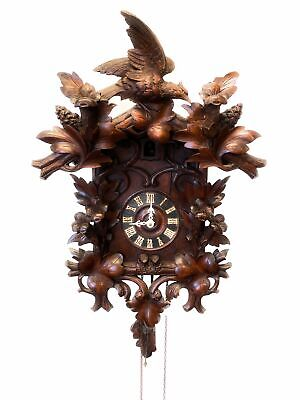 A Lovely Black Forest Cuckoo Clock of Typical Form Needs Some Attention