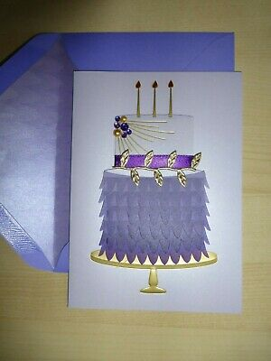Gorgeous Papyrus Wedding Marriage Card Lavender and Gold Orchid LOVE HAPPINESS