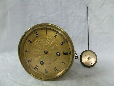 ANTIQUE FRENCH CLOCK Twin Train Movement with Original Pendulum by H Marc, Paris