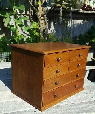 Antique Victorian small Miniature  Chest Of Drawers  refurbished