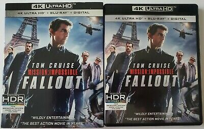 Mission:impossible Fallout 4K Ultra Hd Blu Ray 3 Disc Set + Slipcover Sleeve