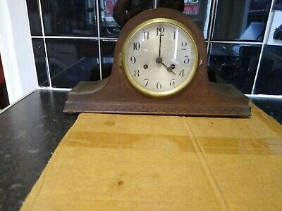 vintage Enfield Mantle Clock - attention needed or spares English made.no key