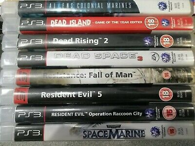 Playstation 3 Horror Game Bundle x8 (18+) - Preowned - Fast Dispatch