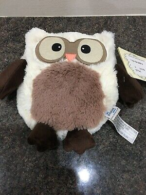 Microwavable Cuddly Owl. No Outer Wrapper but Tags still on. Never Used.