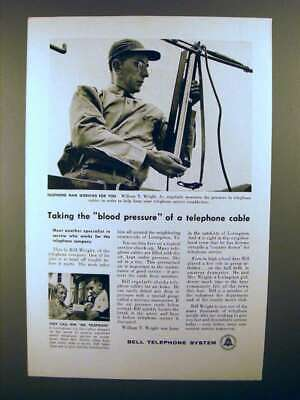 Blood Pressure of a Telephone Cable Vintage Print Ad 1958 Bell Telephone