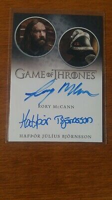 Game of Thrones Autograph Season 8 Rory McCann / Hafpor Julius Bjornsson Dual