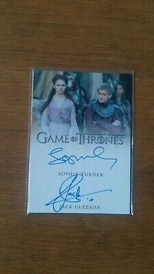 Game of Thrones Autograph Inflexions Sophie Turner / Jack Gleeson Dual