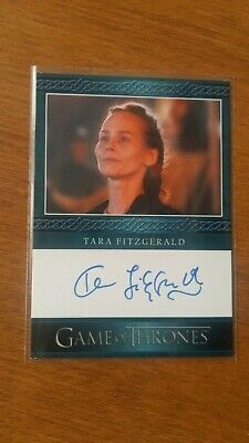 Game of Thrones Inflexions Autograph Tara Fitzgerald Blue Border EL