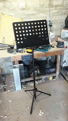Heavy Duty Sheet Music Stand Adjustable Tripod Orchestral Sheet Holder