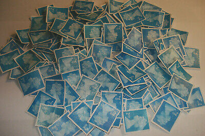 100 x  UNFRANKED 2nd Class Stamps Off Paper No Gum Face Value £65  ALL FAULTY