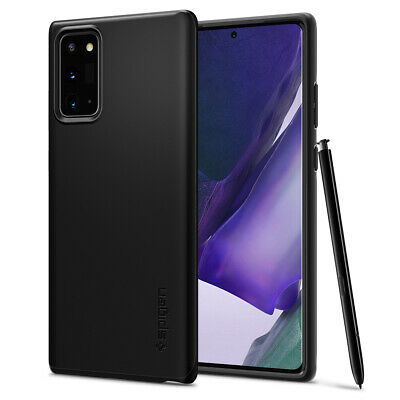 Galaxy Note 20 (2020) Case   Spigen® [Thin Fit] Black Protective Slim Cover