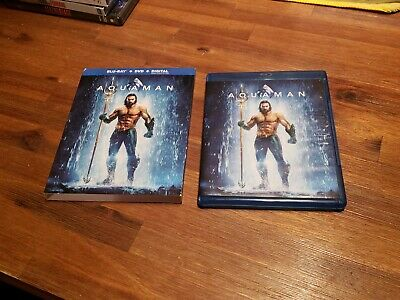 Aquaman [Blu-ray] w/ Slipcover. (NO DVD OR DIGITAL) Excellent Shape. (SEE PHOTOS