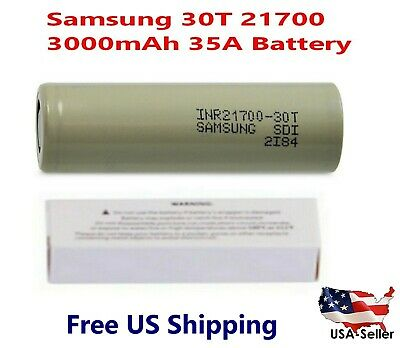 Wholesale Samsung INR21700-30T 35A 3000mAh Rechargeable High Drain 3.7V Battery