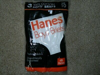 Vtg New in Package Old Stock 1992 Hanes 100% Cotton BOYS BRIEFS SIZE 10