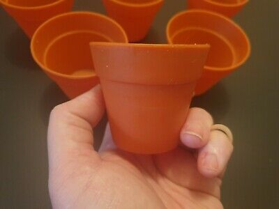 Silicone Plant Pot Cupcake Cases Moulds baking cups set of 6 cake