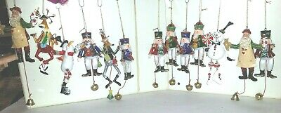 13 Christmas Ornaments  Long Hanging Characters  Movable 6-7""