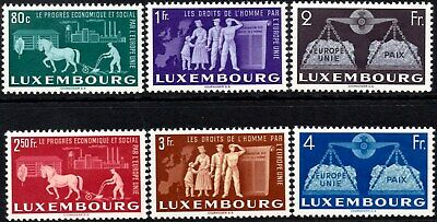 Luxembourg 1951 Promotion of United Europe   SG.543/548 Mint (MNH)