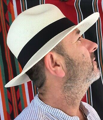 Handmade Fairly Traded Genuine Panama Hat from Ecuador - Hand Woven - Rolling