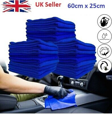 5x Large Microfibre Cleaning Auto Car Detailing Soft Cloths Wash Towel Duster UK