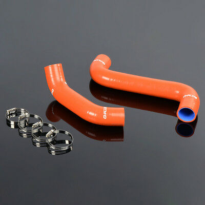Silicone Radiator Coolant Hose Kit Clamps For Subaru Impreza WRX//STi GDA//GDB S204 S205 EJ207 2002-2006 Red