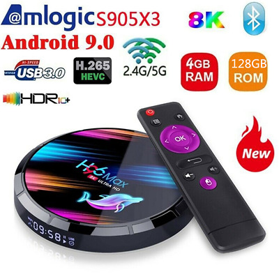 H96 MAX X3 8K 4+64G Android 9.0 Dual WIFI Smart TV BOX Quad Core Amlogic S905x3
