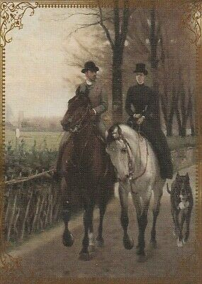 Modern Wide Horses P4 White Horse And Dog Swap Playing Card
