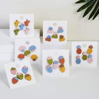 5 Color Sweet Fruit Plant Badge Jammed Brooch Pins Set Fashion Jewelry Gifts