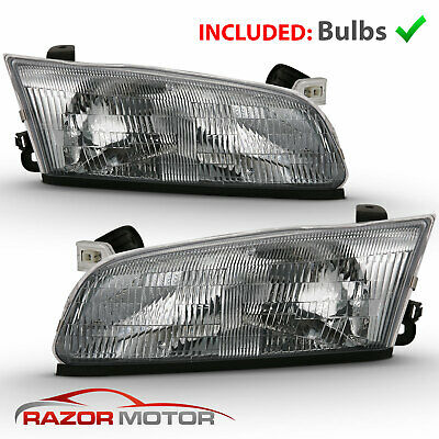 Halogen Headlight Set For 1995 1996 Toyota Camry Left Right W Bulbs Pair 58 37 Picclick