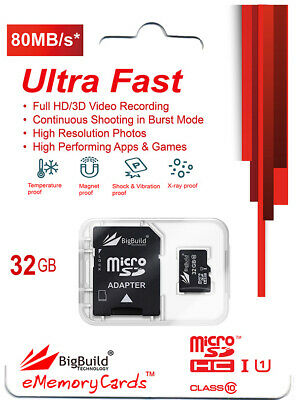 32GB Memory card for Huawei Ascend Y550 Mobile80MB//s microSD SDHC New