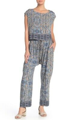 NWT Free People 2-Piece Make My Day Tapestry Print Top and Pants XS $148