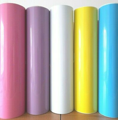 5 SHEETS A4 Gloss Vinyl Self Adhesive for Silhouette CAMEO/ Cricut-BABY COLOURS