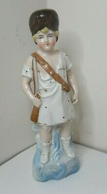 Antique German Porcelain Bisque Child Figurine - The Soldier