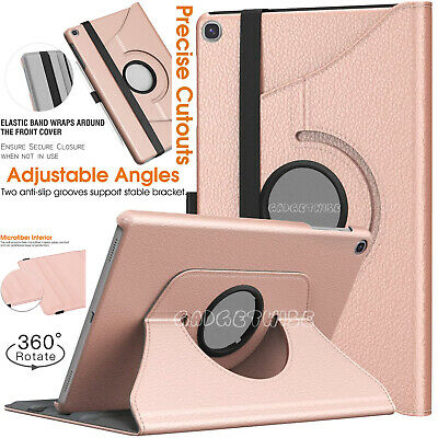 "2019 Samsung Galaxy Tab A 10.1"" T510 T515 Leather 360 Rotating Tablet Case Cover"