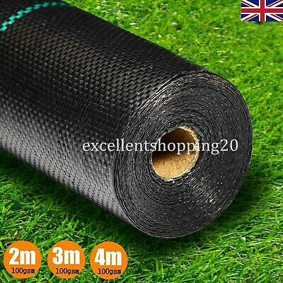 100gsm Weed Control Fabric Landscape Ground Cover Membrane 1m, 2m, 3m, 4m Widths
